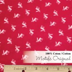 Flanelle motif orignal rouge